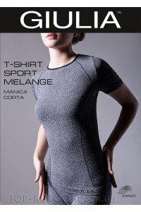 GIULIA T-Shirt Sport Melange Manica Corta model 1