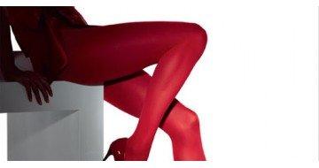 С чем носить красные колготки
